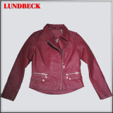 Women PU Jacket with Good Quality and Competitive Price