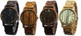 2017 New Fashion Wooden Watches Mens Wood Bracelet Watches