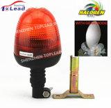 AC12V/24V PC Lens Flexible Mount Halogen Gear Motor Revolving Safety Lamp