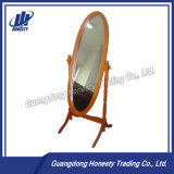 C125 Modern Oval Wood Dressing Mirror with Frame
