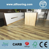 6.5mm WPC Click Flooring Handscraped Distressed Teak