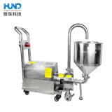Sanitary Horizontal Inline Homogenizer High Shear Mixer Pump with Hopper