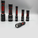 Ipx7 1AA CREE 5W Zoomable Mini Keychain Aluminum LED Flashlight