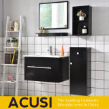 Modern Furniture Wood Black Lacquer High End Bathroom Cabinet (ACS1-L63)