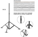 Professional Adjustable Speaker Tripod Stand New Double Brace
