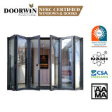 Aama, Nfrc, Nafs 2011 American Standard Modern German Hardware Waterproof Thermal Break Aluminum Bi Folding Door
