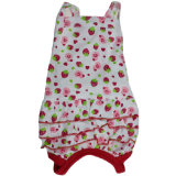 Strawberry Pattern Sweet Female Summer Dog Clothes