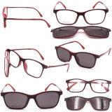 Italy Design Magnetic Clip on Glasses Polarized Sunglasses Optical Frame High Quality Eyeglasses