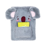 Plush Hardcover Notebook Koala Shape Design for Kids