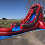 Outdoor Long Water Slide Toy Inflatable Water Slide with Pool