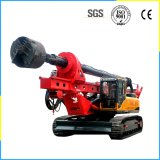 Hydraulic System Crawler Type DTH Drilling Rig with Propulsion Carriage Has The Telescopic Function, The Drill Hole Depth Is 40m.