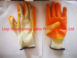 10g Cotton Liner with Latex Coated Safety Work Gloves with Competitive Price