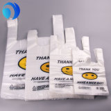 Custom Printing HDPE LDPE PLA Pbat Corn Starch Ok Compost Smiling Face Thank You Shopping Supermarket Store Mall Biodegradable Compostable T-Shirt Plastic Bags