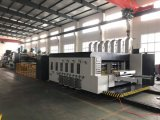 Corrugated Carton Printing Slotting Die-Cutting and Folding Gluing Linkage Line with Bundling