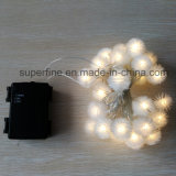 Outdoor Wedding and Holiday LED Snowflake String Light with PVC Rose Decoration