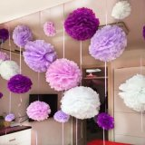 Decorative Favor Tissue Paper Wedding Flower Pompoms Ball