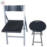 Rattan Black Steel Plastic Home Outdoor Folding Chair