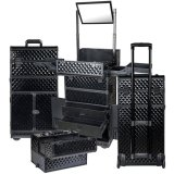 Black Professional Beauty Tool Organzier Trolley Make up Case