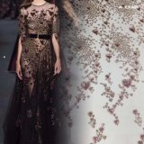 Beautiful Tulle Mesh Design Evening Gown Sequin Lace Embroidery Fabric