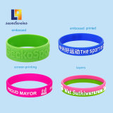 Custom Color Silk Screen Silicone Bracelet Promotional Items