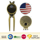 Wholesale Design Aluminium Sublimation Custom Blank Metal Copper Antique Golf Brush Ball Marker Set Bottle Opener Bulk Cheap Golf Divot Repair Tool