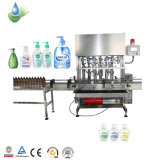 Semi Automatic Manual Capping Alcohol Free Hand Sanitizer Gel Filling Machine