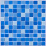 Outdoor Indoor Classical Crystal Square Mixed Blue Porcelain Ceramic Glass Swimming Pool Tile Mosaic for Wall Decoration Pond