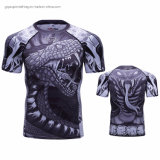 3D Custom Print T Shirt Fitness Gym Clothes Snake Pattern Sports Wear