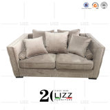 Contemporary Living Room Chesterfield Velvet Fabric Sofa