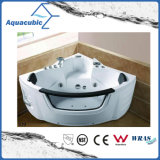 Corner White Whirlpool Massage Bathtub (AB0839)