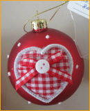 Red Color Christmas Glass Ball for Christmas Tree Decoration
