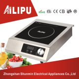 Stainless Steel Housing with Knob Control Commercial Induction Cooktop