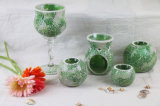 Wholesale Mosaic Glass Tealight Candle Holder/Glass Incense Burner