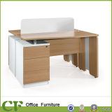 Hot Selling Wooden Normal Table Computer Desk with Two Seats