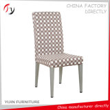 Competitive Price Half Fabric Covered White Dining Chairs (FC-80)