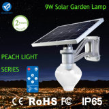 9W Integrated Ce Approved Solar Garden Lamp with Lithium-Ion Battery