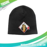 Solid Color Knitted/Knit Beanie Hat with Logo Embroidery (007)