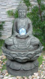 Decoration Polyresin Buddha Outdoor Large Garden Water Fountain W/LED Light