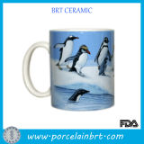 Adorable Peguin Glazed Ceramic Cup