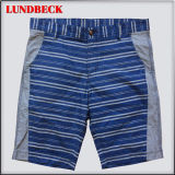 Leisure Stripe Cotton Shorts for Men Summer Wear