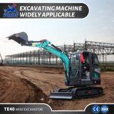 Construction Equipment 4ton Mini Excavator Track Digging Machine with Closed Cabin