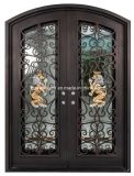 Wrought Iron Door and Glass Entry Steel Security Front Doors Design