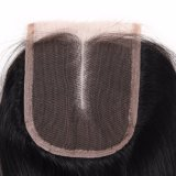 Middle Part Peruvian Human Hair 4*4 Lace Closure Straight Hair 14inches