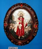 Antique Religious Wall Plaque for Christmas Decoration