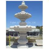 Grey Granite Stone 3 Tiers Water Fountain for Garden