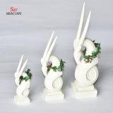 Good Luck Ceramic Deer Shape christmas Decoration, Holiday Gift.