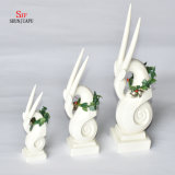 Good Luck; Ceramic Deer Shape Christmas Decoration, Holiday Gift.