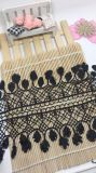 Stock Wholesale 7.5cm Width Embroidery Nylon Lace Polyester Embroidery Trimming Fancy Lace for Garments Accessory & Home Textiles & Curtains Decoration