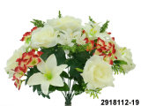 Artificial/Plastic/Silk Flower Rose/Hydrangea/Lily Mixed Bush (2918112-19)
