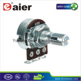 Single Short Shank 100k Rotary Potentiometer with Switch